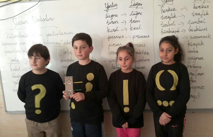 NOKTALAMA İŞARETLİ TİŞÖRTLER, Kelime Hazinesi Kutusu, projesi