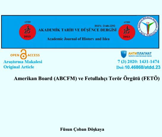 Amerikan Board (ABCFM)ve Fetullahçı Terör Örgütü(FETÖ)